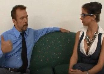 Imagen La entrevista con Rachel Roxxx terminó con sexo duro